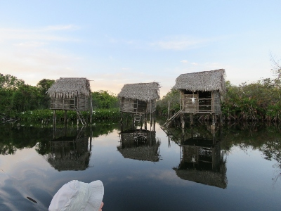 image of huts along river in San Blas, Mexico
